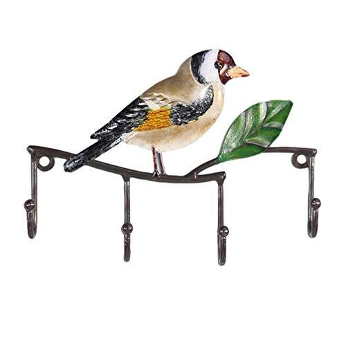 VOSAREA Perchero de Llaves de Pared en Forma de Pájaro Gancho Decorativo para Colgar Llaves Sombreros Toalla