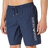 Emporio Armani Swimwear Bermuda Embroidery Logo Costume da Bagno, Black, 48 Uomo