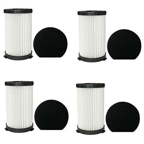 Fransande Filtro HEPA de algodón filtro elementos malla de filtro adecuado para aspiradora D600, 4 pares