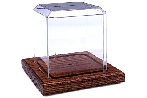 Pioneer Plastics - hochwertige Vitrine aus Acryl zum Sammeln und Verstauen eines Golfballs, mit Golftee, Holzboden
