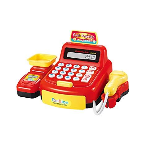 Feixunfan Caja Registradora de Juguete Supermercado simulado Checkout Counter rol Cashier Cash Register Toy Kids Pretend Play Toys Toys Electrónicos para niños Regalos para Kid Role Play