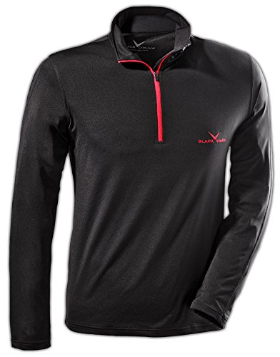 Black Crevice Herren Funktionsshirt, Skirolli, schwarz, L