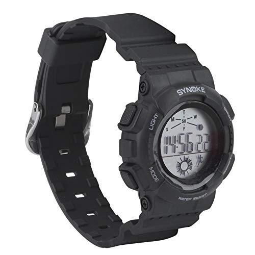 DAUERHAFT Unisex Kinder Kinder Studenten wasserdichte multifunktionale elektronische Uhr, Digitale Armbanduhr, für Kinder Geschenk, Geburtstagsfeier(Schwarz)