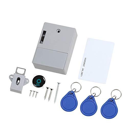 WHHHuan 1 set osynlig sensorlås emid IC kortlåda digitalskåp intelligenta elektroniska lås för garderob möbler hårdvara (färg: grå)