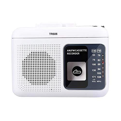 Lsmaa Radio portátil, Voz Soporte de grabación Incorporado en la grabación del Casete Externo con función de reproducción telescópica Antena Larga, Conveniente for Escuchar al Aire Libre