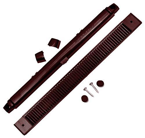 264 mm EA2200 brauner MJ2000 Trickle Slot Vent für uPVC, Holz, Vinyl und Aluminium Fenster verhindert Kondensation, Feuchtigkeit und Schimmel durch Belüftung verstellbare Klappe