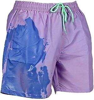 Mens Summer Short Swim Trunks, WOJOGO Temperature-Sensitive Color-Changing Swimsuits Swimming Board Shorts