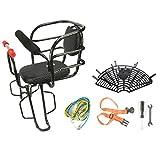 KHXJYC Asiento Trasero De Bicicleta, Asiento Elevador De Seguridad para NiñOs, con Barandillas MóViles Y CojíN para NiñOs con Pedal