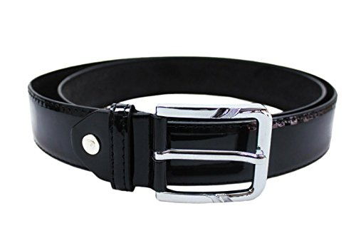 Mat Sartoriale Cintura elegante uomo nero lucido vernice cinta belt cerimonia