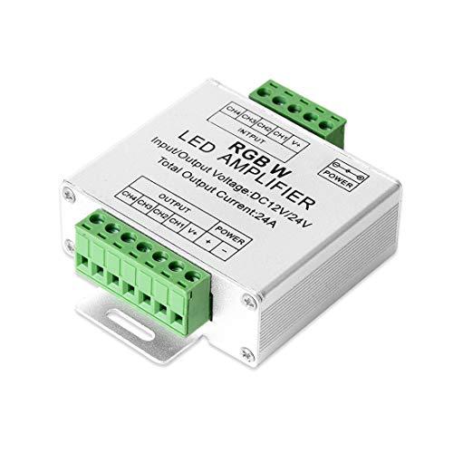 BTF-LIGHTING El trabajo del controlador del amplificador de tira LED RGB/RGBW 5050 con 4 pines / 5 pines DC12V / DC24V 5050SMD tira de LED