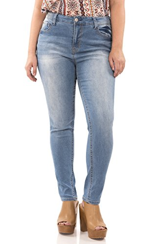 WallFlower Plus Size Basic Legendary Skinny Jeans in Darcy Size:24 Plus Long