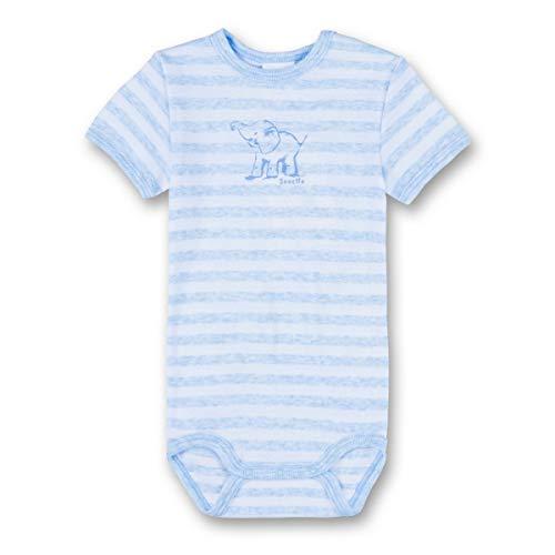 Sanetta 322452, Body Bébé Garçon, Blau (Bleu Melange 50240), 4 Ans