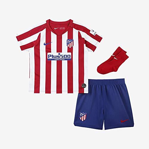 Nike ATM I NK BRT KIT HM Ensemble de Football Enfant Sport Red/White/Deep Royal Blue/(Deep Royal Blue) (Full Sponsor) FR : S (Taille Fabricant : 18-24M)