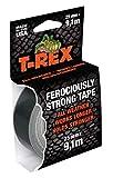T-Rex Tape 821-25 Gewebeband – Extrem starkes Panzertape – Wasserdichtes Reparaturband für innen & außen – Klebeband zum Reparieren & Befestigen – 25mm x 9,10m