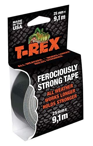 T-Rex 821-25 Cinta americana - Cinta de blindaje extremadamente fuerte, cinta impermeable de reparación para interior y exterior, cinta adhesiva de reparación y fijación, 25mm x 9,10m