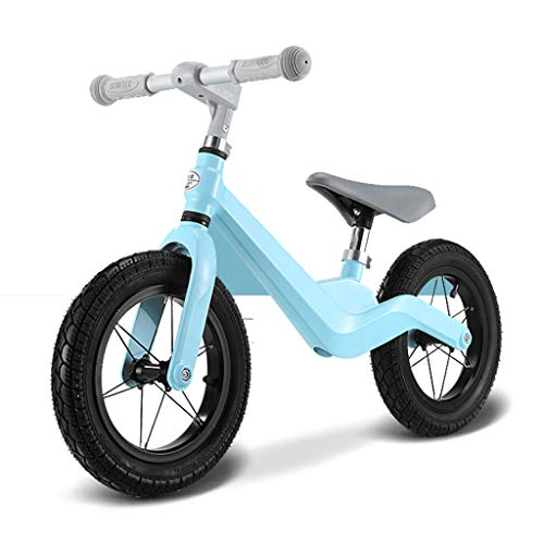 UNU_YAN Kinder Scooter Balancen-Fahrrad ohne Fußpedal Boy zweirädriges Fahrrad Mädchen Scooter 3-6 Jahre alt (Color : Blue)
