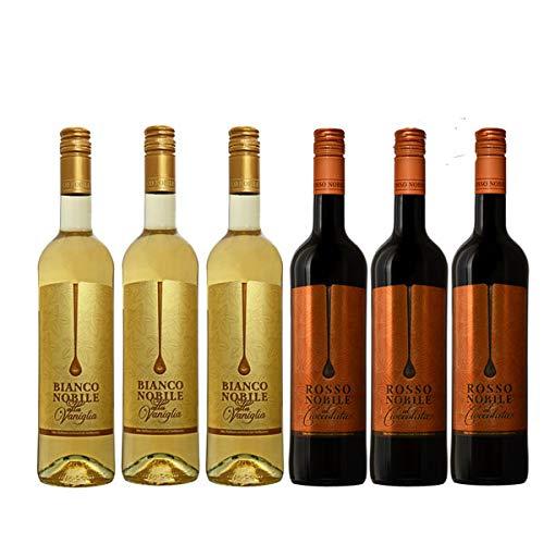 Bianco (3) et Rosso (3) Noblile alla Vaniglia et Cioccololata (6x0,75l)