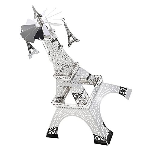 OSALADI Spinning Supporto di Candela Tealight Carosello Metallo Titolare Luce del tè Torre Eiffel Statua Girevole Candeliere Stand per La Cerimonia Nuziale di Compleanno Decorazioni