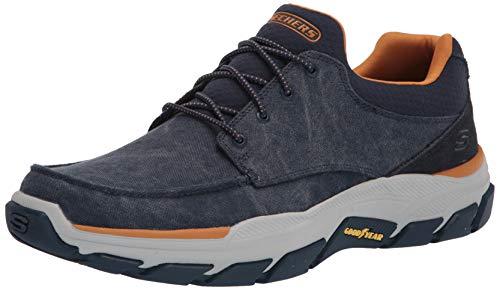 Skechers Hombre Respected Zapatos De Lona con Cordones Azul Marino 42.5 EU