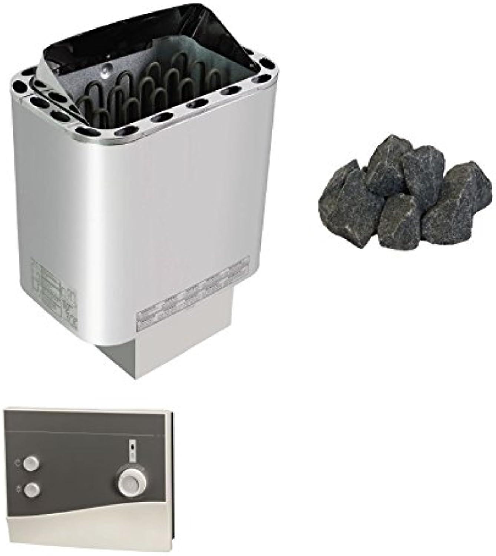 Sawo Nordex Next Saunaofen Sentiotec 4,5 KW mit Saunasteine mit Saunasteuerung K2