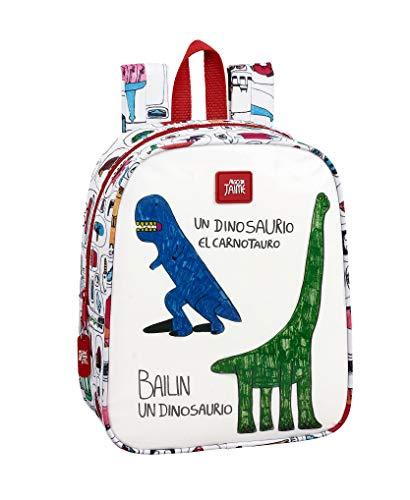 Algo de Jaime Mochila guardería niña Adaptable Carro, Blanco/Multicolor, Única