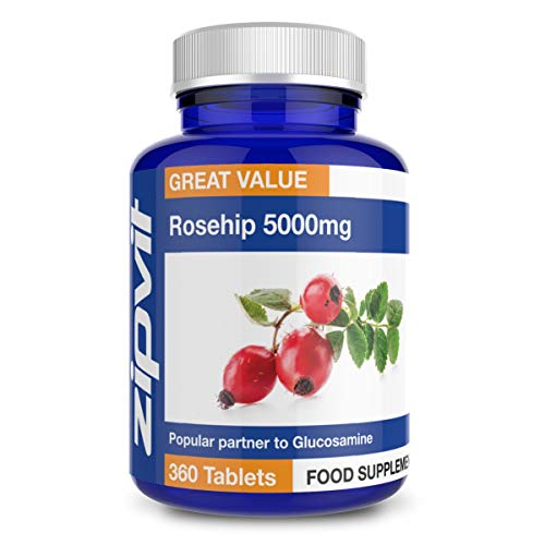 Rosehip 5000mg Plus Vitamin C, 360 Vegan Tablets. UK Manufactured. 12 Months Supply.
