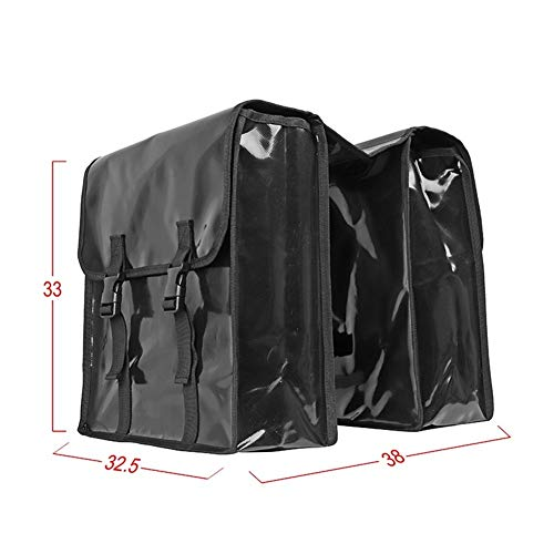 Z-Y Fietstas Waterbestendig berg Waterdichte MTB Bike Rear Seat Bag Bicycle Double fietstas Fietsen Carry Trunk Bag mountainbiken Bagage tas for Travel #z (Color : Black)