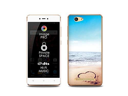 etuo Handyhülle für Allview X3 Soul Lite - Hülle, Silikon, Gummi Schutzhülle Foto Case - Herz auf Sand
