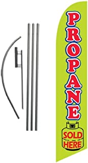 Propane Sale Advertising Feather Banner Swooper Flag Sign with Flag Pole Kit and Ground Stake