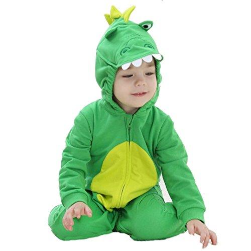 Katara 1778 Costume Drago Neonati Bambini Tuta Kigurumi Animale Pigiama Intero con Cappuccio Bambino 6-12 Mesi