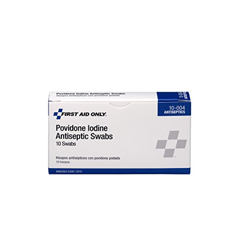 First Aid Only PVP Iodine Swabs, 10 Per Box , Original Version - 10-004