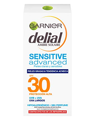 Garnier Delial Sensitive Advanced Crema Facial Anti-Acné Protector Solar Ip30+  - 50 ml