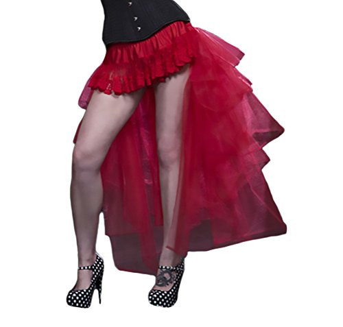 Targogo Falda Tul Mujer Tutu Años 50 Vintage Irregular Ballet Enaguas Gothic Steampunk Danza Ropa Fiesta Modernas Swing Petticoat Traje De Carnaval