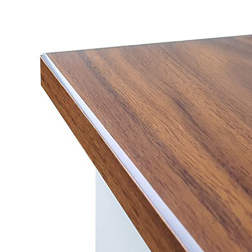Transparente Folie 2mm abgeschrägte V Kante, glasklar und Hochglanz Schutzfolie Tischschutz Tischdecke Größe wählbar Eckig 40 x 60 cm Schutztischdecke Made in Germany