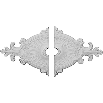 Ekena Millwork 23 1/2-Inch x 12 1/4-Inch x 1 1/2-Inch Quentin Ceiling Medallion