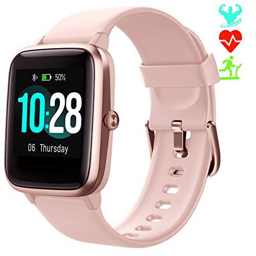 Jogfit Smartwatch Contapassi Orologio Fitness Tracker Donna Uomo, Smart Watch GPS Impermeabile IP68 Cardiofrequenzimetro da Polso, Orologio Sportivo Activity Tracker Calorie Cronometro Bambini