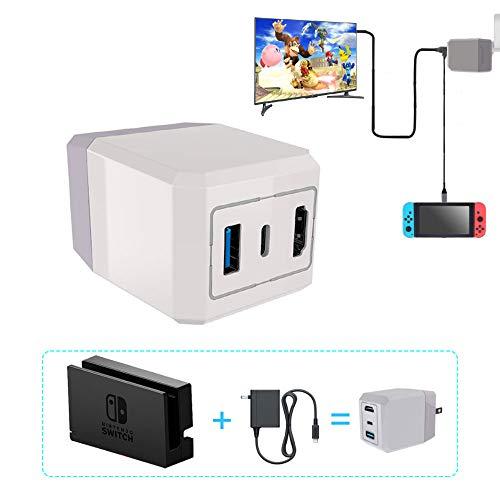 Uniraku 2-in-1 Nintendo Switch用本体への充電·給電ができる変換アダプタ-  Nintendo Switch用TV出力変換...