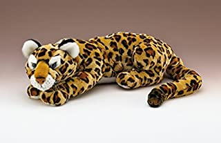 """Wildlife Artists Jaguar Lying Plush Toy 35"""" Long with Tail"""