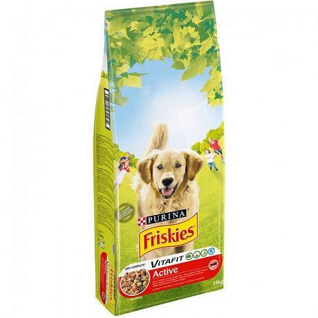animaux FRISKIES - Croquettes Chien Active Riche en Viandes 18Kg - Lunité - Livraison Offerte