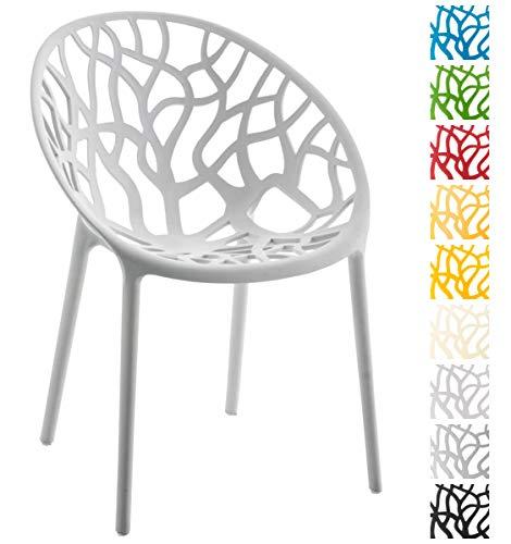 CLP Gartenstuhl Hope aus Kunststoff I Wetterbeständiger Stapelstuhl mit Einer max. Belastbarkeit von 150 kg I erhältlich, Farbe:grau