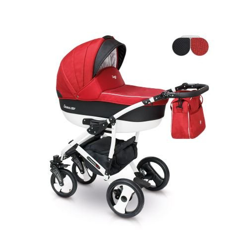 Camarelo CARERA NEW Kombikinderwagen, Buggy Farbe CAN-1 rot / schwarz