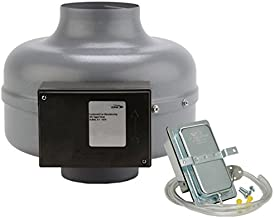 Continental Fan Manufacturing DVK100B-P 152 CFM In-Line Dryer Booster Duct Fan for 4