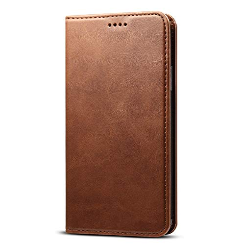 Wallet Case for iPhone Xs MAX/iPhone 10S MAX (2018), PU Leather Wallet Cellphone Case Flip Folio [Kickstand Feature] with ID&Credit Card Slots Note Pocket for Apple iPhone 10S MAX 6.5 inch (Brown)