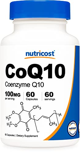 Nutricost CoQ10 100mg, 120 Vegetarian Capsules, 120 Servings - High Absorption, Vegetarian, Non-GMO, Coenzyme Q10