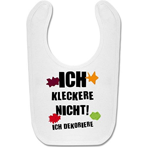Shirtracer Sprüche Baby - Ich kleckere nicht! - Unisize - Weiß - lätzchen ich kleckere nicht - BZ12 - Baby Lätzchen Baumwolle