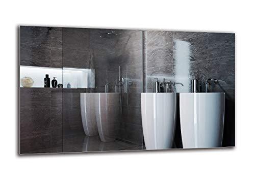 Espejo Standard - Espejo sin Marco - Dimensiones del Espejo 100x60 cm - Espejo de baño - Espejo de Pared - Baño - Sala de Estar - Cocina - Hall - M1ST-01-100x60 - ARTTOR