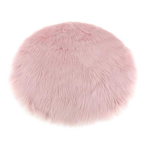 Kunstfell Bettvorleger Sitzauflage Teppich Matte für Wohnzimmer Schlafzimmer, 9 Farben - Hell-Pink