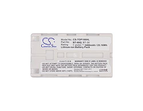 CameronSion - Batería de 3400 mAh para Topcon RC-3 FC100 FC2000 FC-100 FC-120 FC-200 FC-2200 FC-2500 GMS-2 GPT-7000i GPT-7500 GPT-9000 GPT9000A GTS-750 GTS-751 GTS-900 GPT-7501 GPT-7502