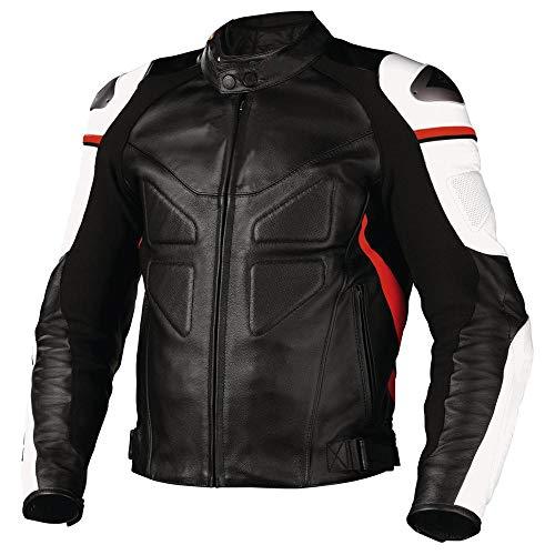 Corso Fashion Tuta in pelle per moto da corsa - Giacca da uomo in pelle per moto a norma CE, protezione a norma CE completa per motociclisti professionisti in tutte le taglie