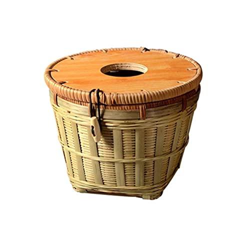 WLP-WF Cubierta para Caja de Pañuelos Funda de Bambú para Caja de...